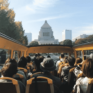 How to enjoy Tokyo from the inside of a double decker bus