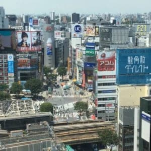Nice overview of the Shibuya City(Shibuya Hikarie)